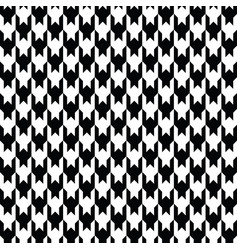 black houndstooth pattern classical vector image