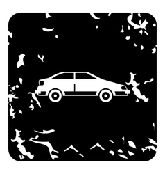 Car icon grunge style vector