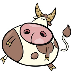 cartoon of taurus zodiac sign vector image vector image