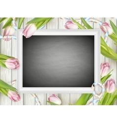 Chalkboard with place for text EPS 10 vector image vector image