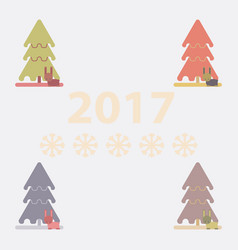 Collection of new year tree vector