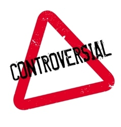 Controversial rubber stamp vector