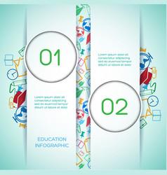 Educational school infographics vector