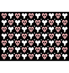 Emo gothic valentine wrapper vector image