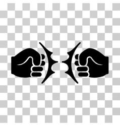 Fist fight icon vector