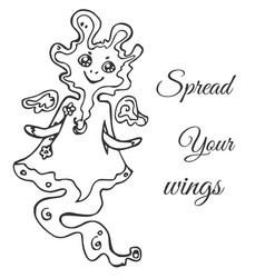 flying ethereal air monster amorphous form vector image vector image