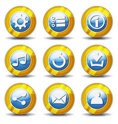 gold icons for ui game vector image