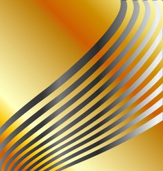 High grade gold metal background with silver swirl vector