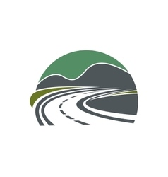 Highway or road disappearing near mountains vector image vector image