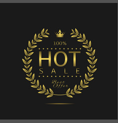 hot sale label vector image vector image