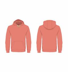 Mens red hoodie vector