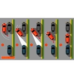 Reverse parking 02 c vector