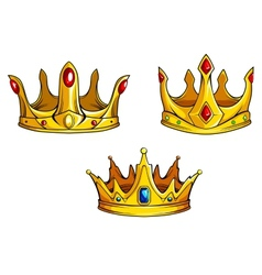 Royal crowns set vector