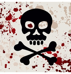 Skull with crossbones vector image vector image