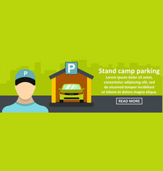 stand camp parking banner horizontal concept vector image