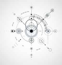 Technical plan monochrome abstract engineering vector image vector image