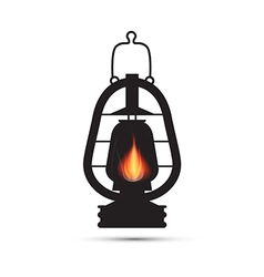 Vintage lantern gas lamp isolated on white backgro vector
