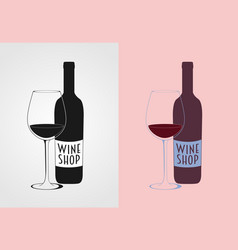 Wine logo concept badge or label vector