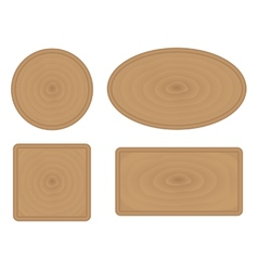 Wooden buttons vector