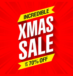 xmas sale banner incredible christmas offer vector image vector image