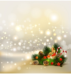 Christmas background with still life vector