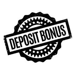 Deposit bonus rubber stamp vector