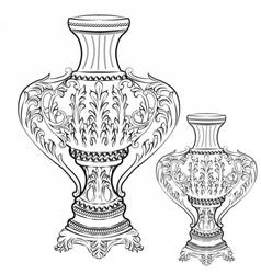 Exquisite Fabulous Imperial Baroque vase decor vector image