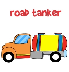 Road tanker transportation collection stock vector