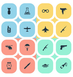 set of 16 simple terror icons can be found such vector image