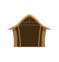 Hut wooden manger scenic image vector