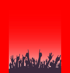 Audience poster vector