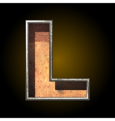 Old metal letter l vector