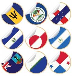 world sticker labels vector image