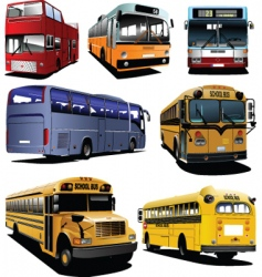 seven buses vector image