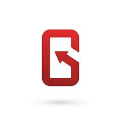 Letter g arrow mobile phone app logo icon design vector
