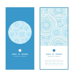 Doodle circle water texture vertical round frame vector