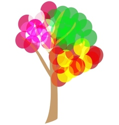 4 seasons tree vector