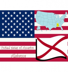 Alabama state vector image