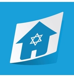 Jewish house sticker vector