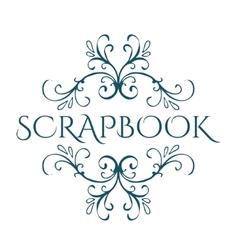 Scrapbook Calligraphic vintage design element vector image