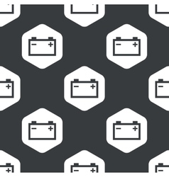 Black hexagon accumulator pattern vector