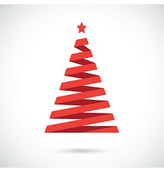 red christmas tree vector image