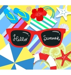 Summer background with holiday elements vector