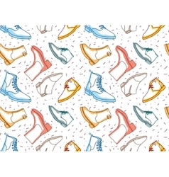 Colored shading boots seamless pattern vector