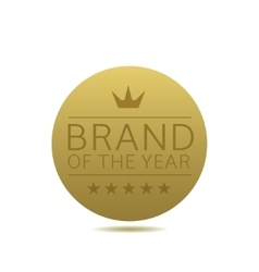 Brand of the year label vector