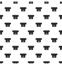 Atm machine receipt pattern simple style vector