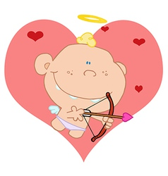 Baby cupid shooting arrows vector
