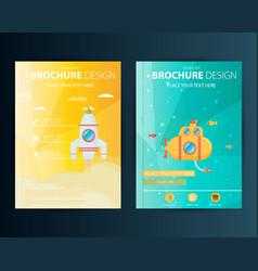brochure design template geometric shapes vector image