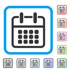 calendar poster framed icon vector image vector image