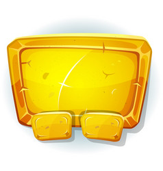 Cartoon gold sign for ui game vector